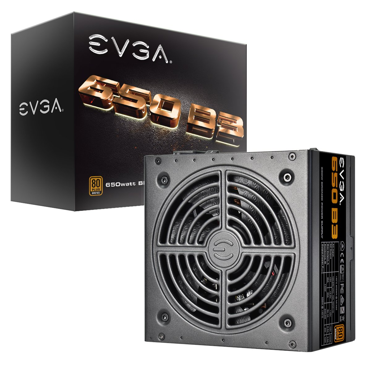 EVGA 650 B3, 80+ BRONZE 650W, Fully Modular, EVGA ECO Mode, 5 Year Warranty, Compact 150mm Size, Power Supply 220-B3-0650-V1