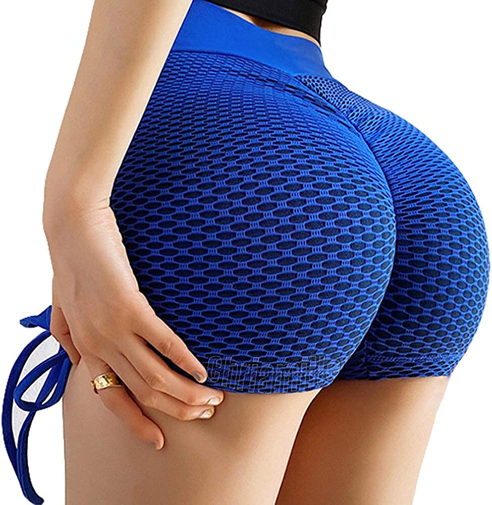 Chriamille Butt Lifting Workout/Shorts/for/Women/Ruched/Butt Scrunch/Booty/Shorts Leggings Anti Cellulite Hot Yoga Shorts