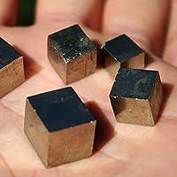 Pomcat 6Pcs Diferentes Tamaños Mini Pyrite Cube Natural