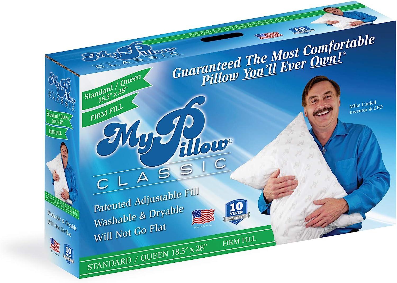 MyPillow Classic Pillow (Standard/Queen, Green [Firm]): Home & Kitchen