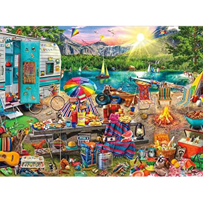 FENGPT Jigsaw Puzzle Camping Picnic Wooden Jigsaw Puzzle 1000 Pieces Adult Paper Anti Stress Gift Children S Educational Toys: Toys & Games