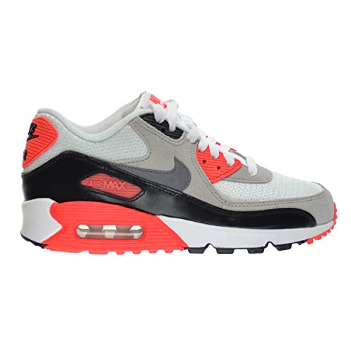 official photos bf802 5aa18 Nike Air Max 90 Premium Mesh (GS) Big Kids Shoes White Cool Grey