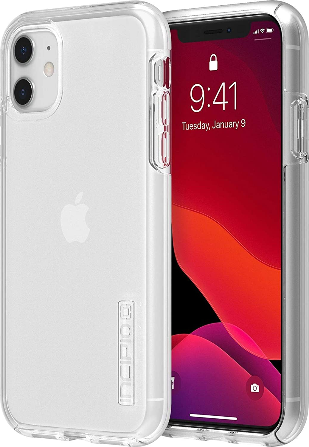 Incipio DualPro Dual Layer Case for Apple iPhone 11 with Flexible Shock-Absorbing Drop-Protection - Clear