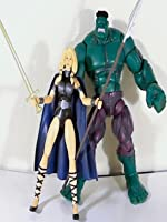 """Marvel Legends VALKYRIE and HULK review (Hasbro) 6"""" inch action figure toy"""