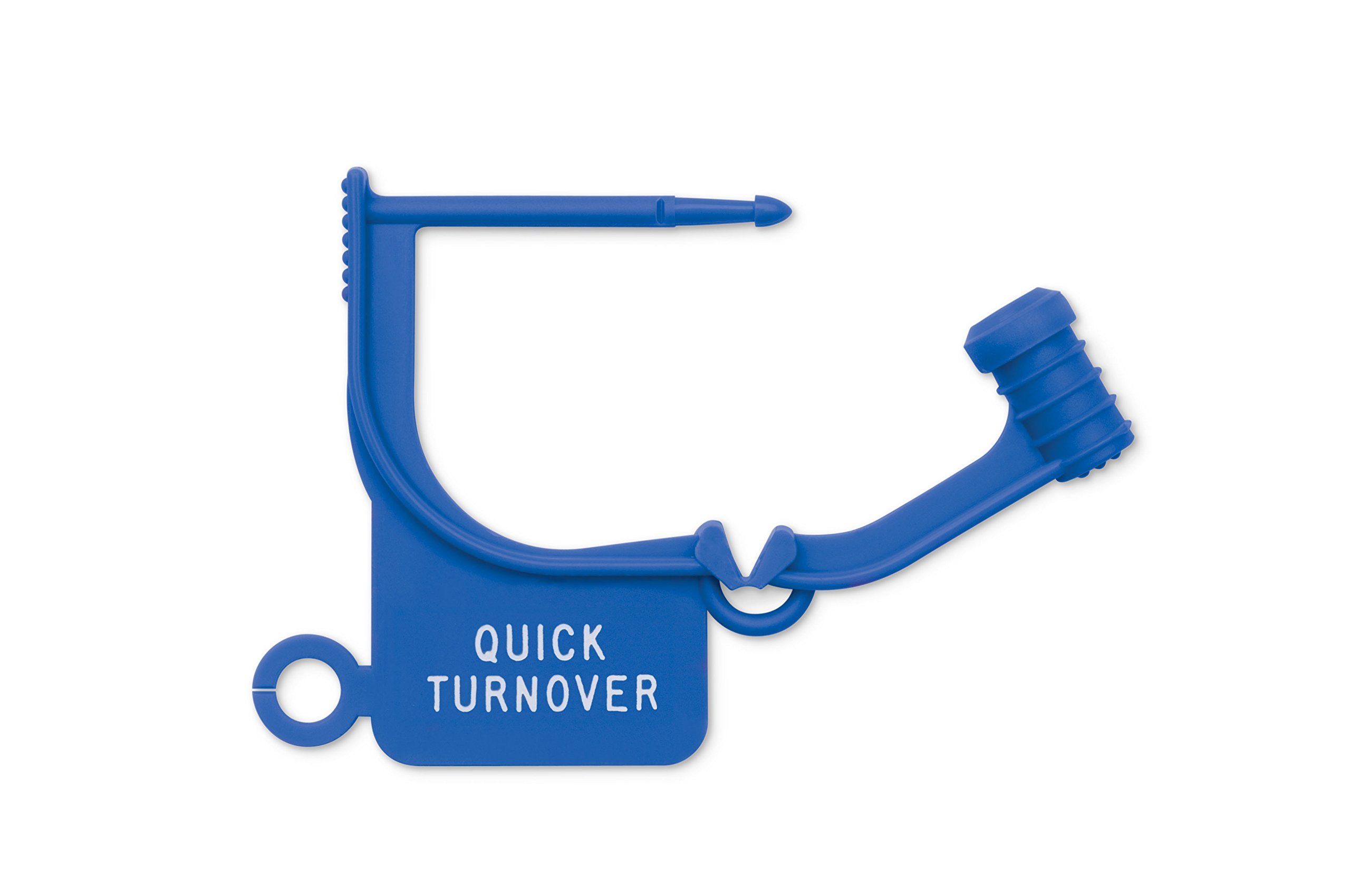 Key Surgical LT-210 Locking Tag, ''QUICK TURNOVER'', Blue (Pack of 100)
