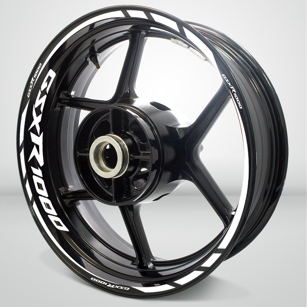Suzuki GSXR 1000 Gloss White Motorcycle Rim Wheel Decal Accessory Sticker