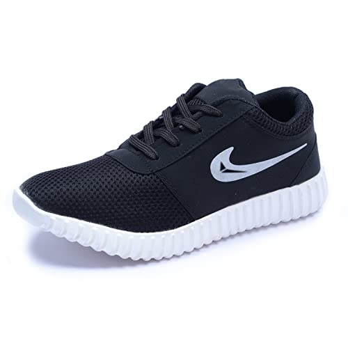 online retailer ca074 9afa5 STRINGS Men s Black Leather Casual Shoes - 6