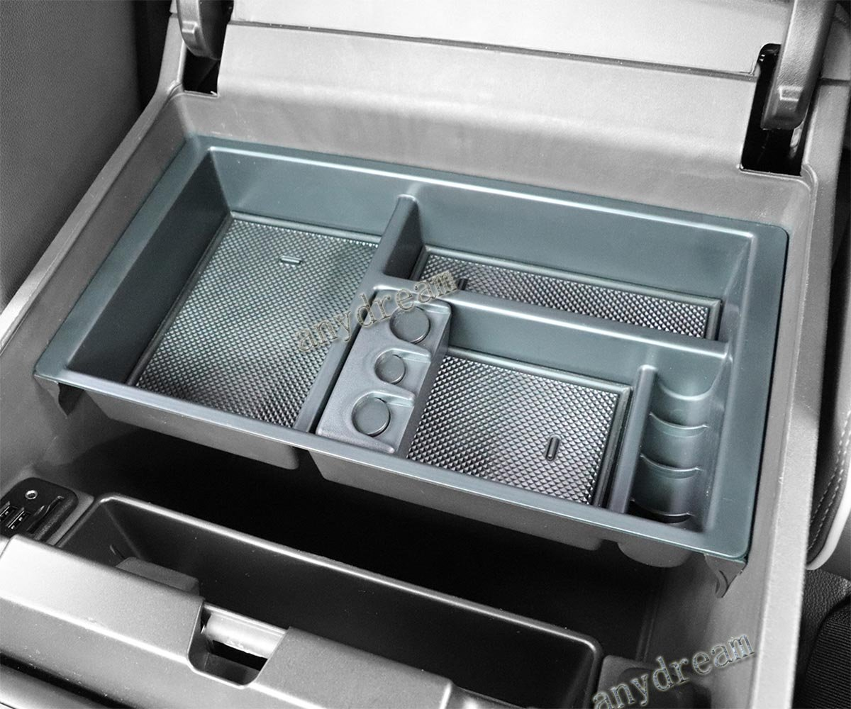 Center Console Organizer Tray for 2014-2018 GMC Sierra Chevy Silverado(Full Console w/Bucket Seats ONLY) Anydream