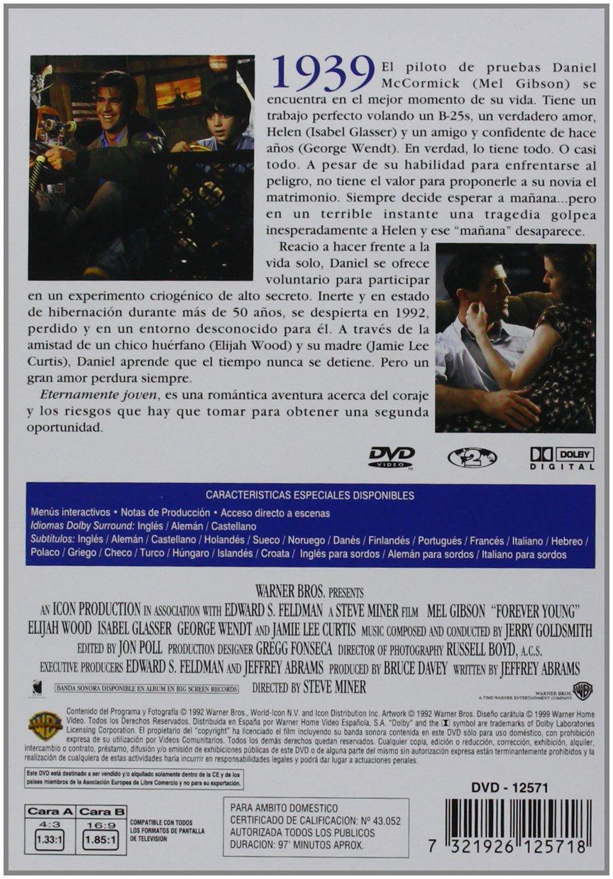 Eternamente Joven [DVD]: Amazon.es: Mel Gibson, Elijah Wood, Isabel Glasser, George Wendt, Jamie Lee Curtis, Steve Miner: Cine y Series TV