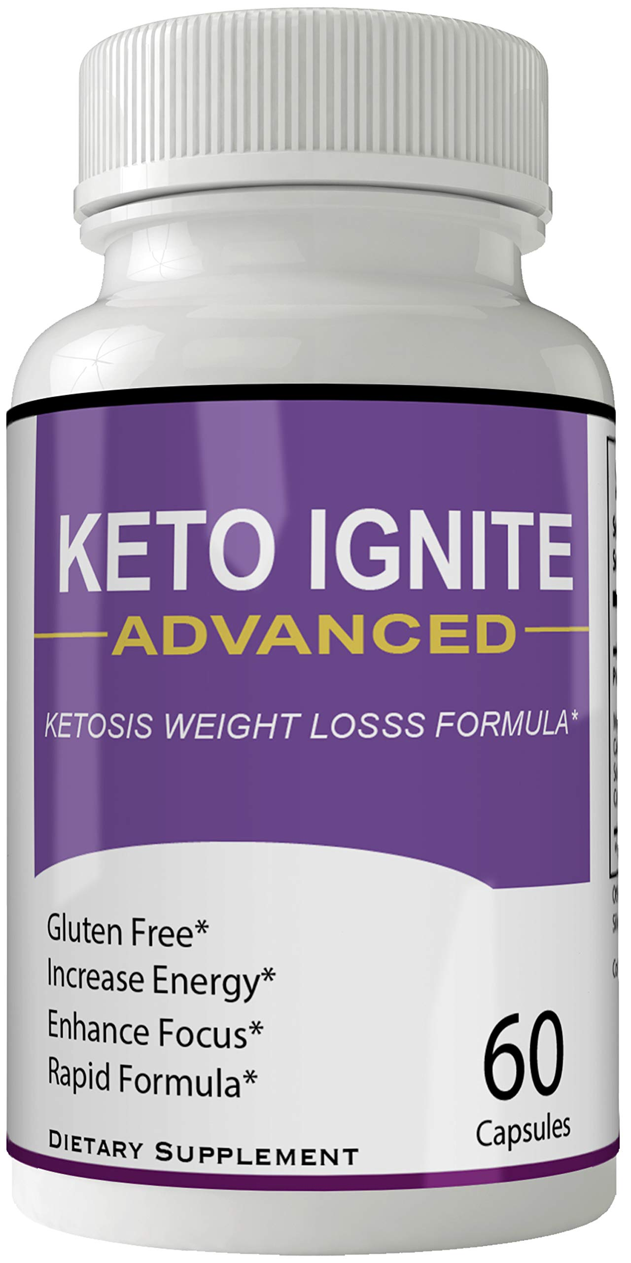 Keto Ignite Advanced Pills Weight Loss Supplement, Appetite Suppressant with Ultra Advanced Natural Ketogenic Capsules, 800 mg Fast Formula with BHB Salts Caffeine Ketone Diet Boost Metabolism