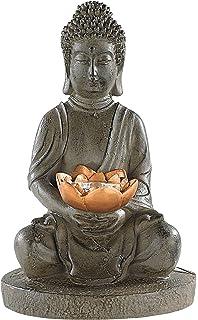lunartec solar gartendekorationen solar led deko lampe buddha fr garten terrasse - Buddha Deko Wohnzimmer