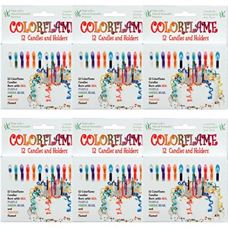 Amazon.com: (Set/72) colorflame Multicolor Feliz cumpleaños ...
