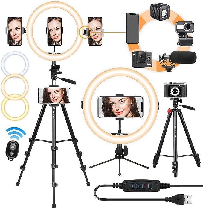 Tarion Led Selfie Ringlicht Ringleuchte Licht Set 11 Kamera