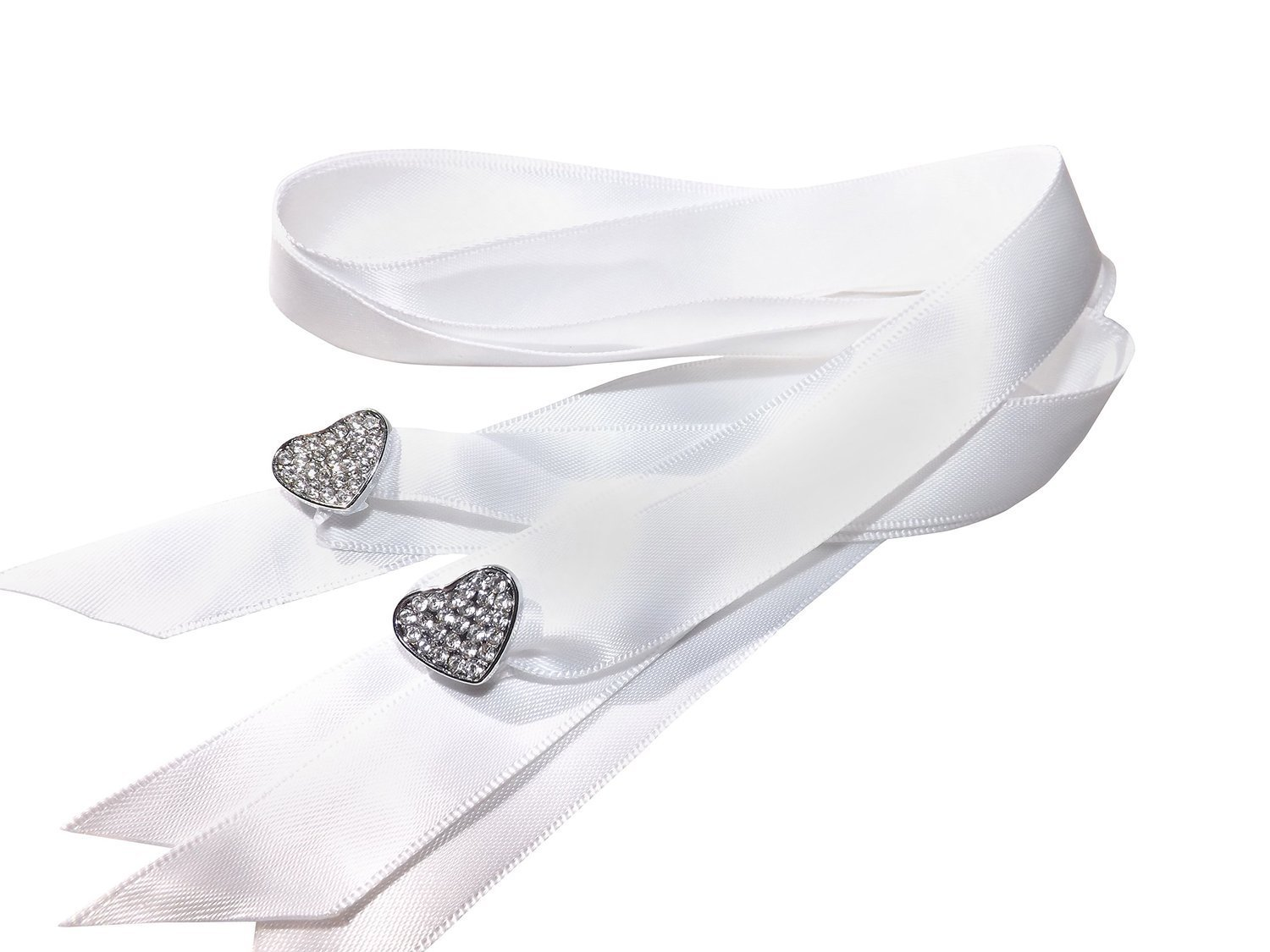 Stunning Crystal Full Heart Shoe/Trainer Charms with a FREE Pair of Our White Satin Ribbon Laces (Womens fit size 3 to 8)
