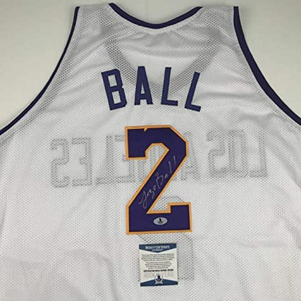official photos 1a7db 86753 Autographed Lonzo Ball Jersey - White Beckett BAS COA ...