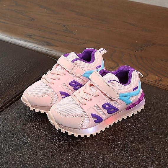 Luminosa bebé niño convencional zapatos , xinantime Niñas Chicos LED Light Mesh Luminous deporte Mesh Zapatos décontractées en plein air, plateado: Amazon.es: Bricolaje y herramientas