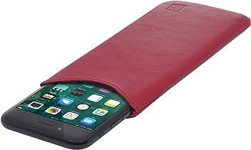 StilGut Pouch Custodia Smartphone Sleeve in Morbida Pelle di Nappa Misura M, Rosso Nappa | Compatibile tra Gli Altri con Samsung Galaxy S6, Samsung Galaxy S7, Samsung S6 Edge, HTC 10