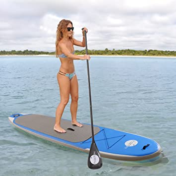 Amazon.com : Haxton Stand Up Paddle Board Buoyancy Adjustable Carbon Paddle Inflatable Board Travel Package Repair Kit and Pump -130 x 30 x 6-lnch : Sports ...