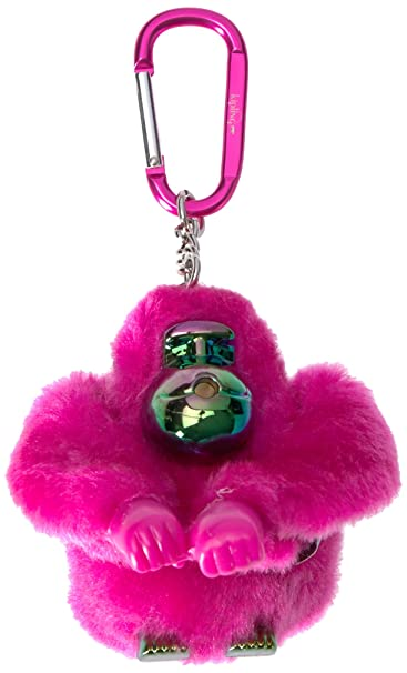 Amazon.com: Kipling Lou - Llavero de mono azul, Rosado ...