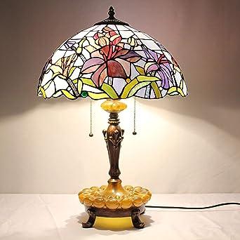 Lámpara de mesa, Lámpara de escritorio de 16 pulgadas pastoral ...