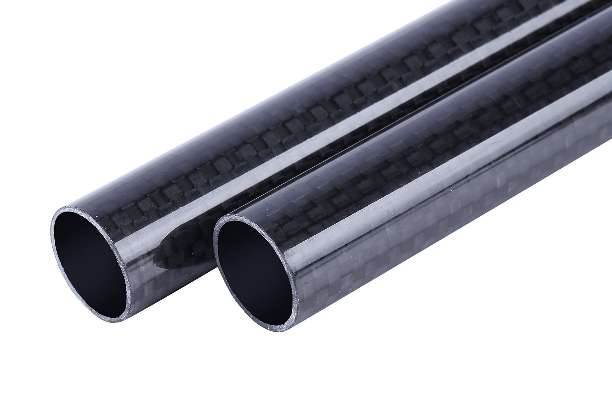 ALSTON 3K Roll Wrapped Carbon Fiber Tube 14x16x500mm Light Surfaces Pack of Two Pcs by Alston