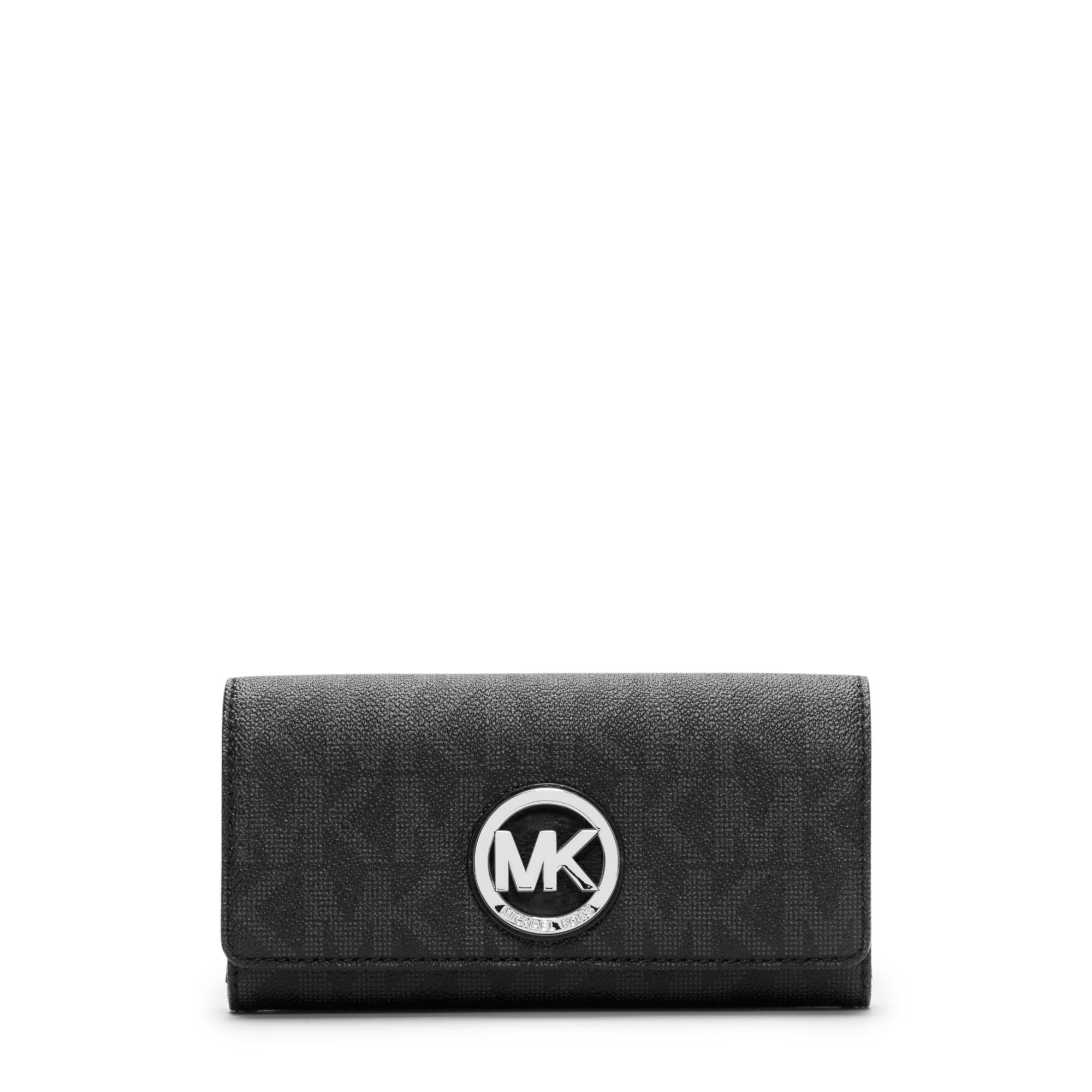 MICHAEL Michael Kors Fulton Signature Carryall Wallet Black by MICHAEL Michael Kors