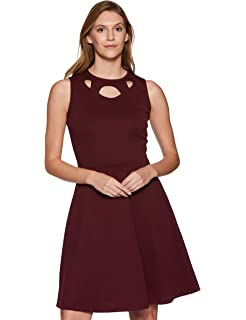 1ec96d26b92 Addyvero Women s Cold Sleeve Skater Dress  Amazon.in  Clothing ...