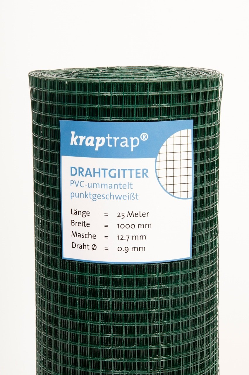 KrapTrap® Volierendraht grün Drahtgitter 12x12mm Masche 1x25m ...