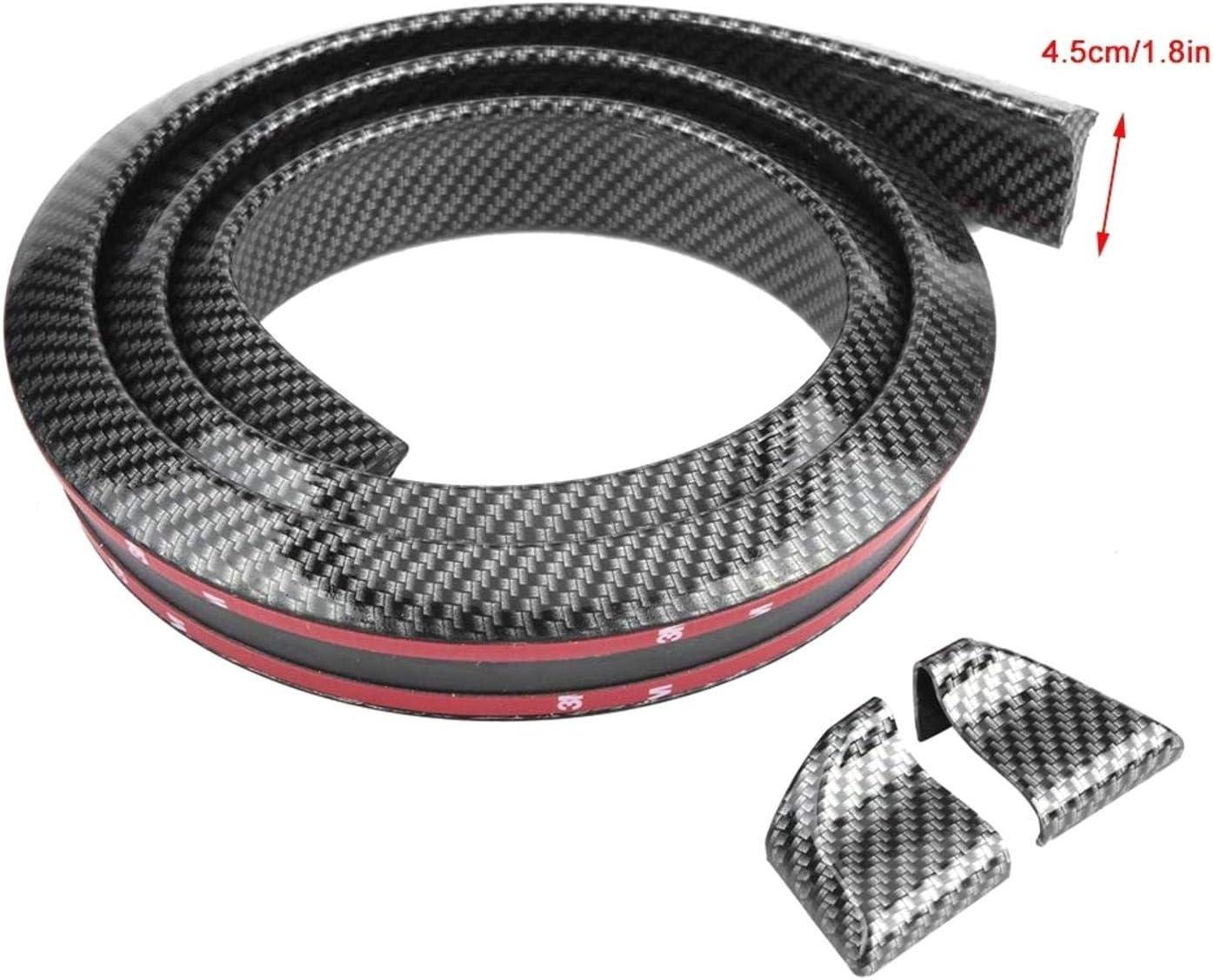 BLLBOO Spoiler Spoiler Trasero 1,5 m//4,9 pies Estilo de Fibra de Carbono Kit de Pegatina de Labios de aler/ón de Techo Trasero de Coche Universal