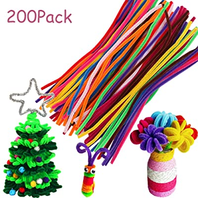 VEYLIN 200Pack Colorful Pipe Cleaners Assorted, 10 Colors Chenille Stems for DIY Creative Crafts Decoration: Arts, Crafts & Sewing