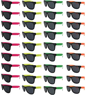 d4db7499f9094 Neon Sunglasses (Pack 36) Assorted Cool Colors Wayfarer Neon Sunglasses  Party Favors Party Pack