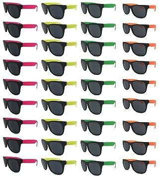 Amazon.com: Gafas de sol Neon (paquete de 36) surtidos ...