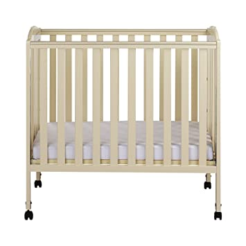Bon Dream On Me 3 In 1 Folding Portable Crib, French White