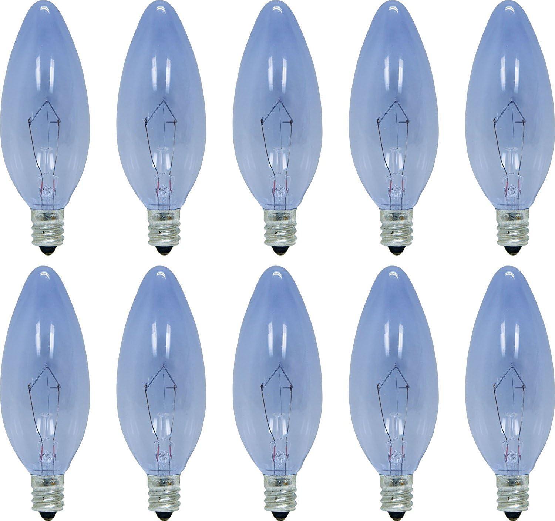 GE Lighting 74979 25-Watt 135-Lumen Blunt Tip Light Bulb with Candelabra Base, 10-Pack