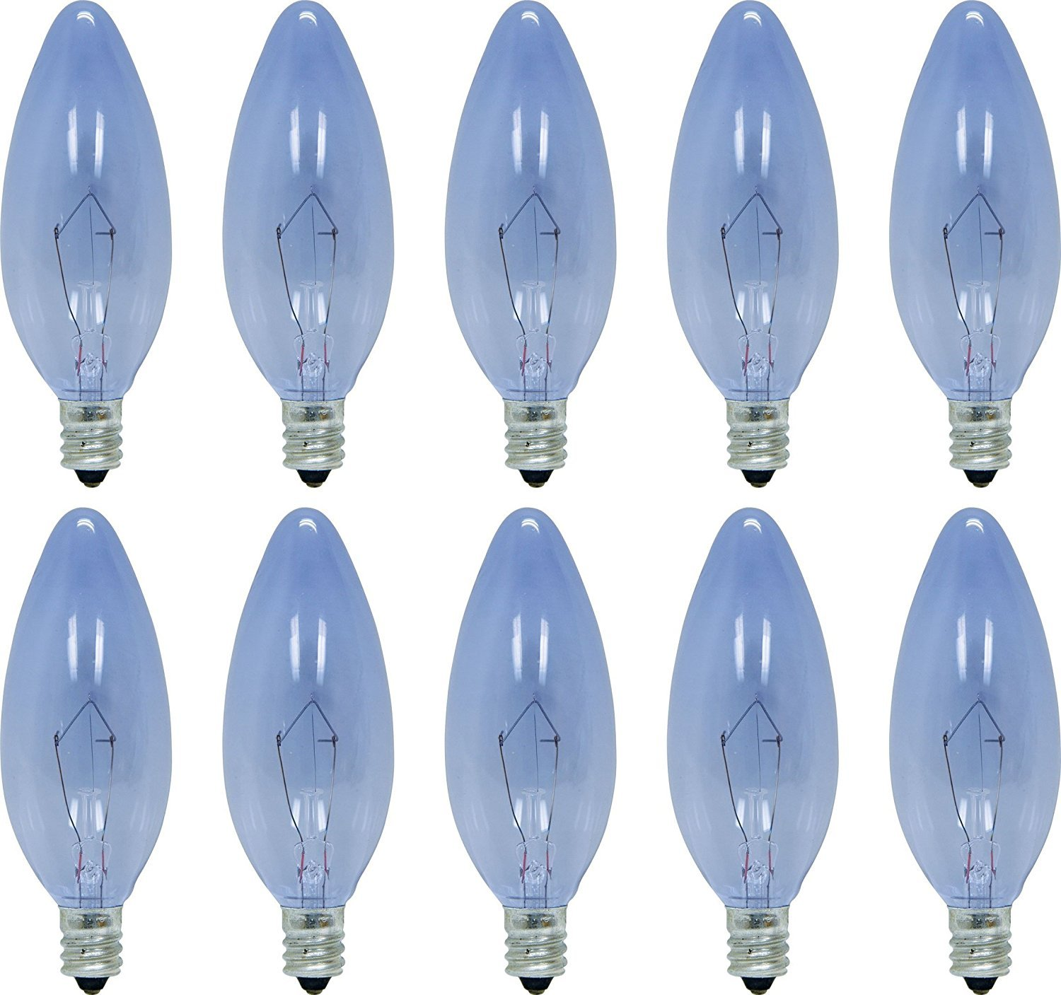 GE Lighting 48702 40-Watt 230-Lumen Blunt Tip Light Bulb with Candelabra Base, 24-Pack