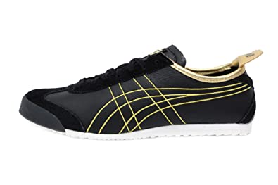 buy online 28ec4 3a6f0 Amazon.com: Onitsuka Tiger Mexico 66 Mens in Black/Rich Gold ...