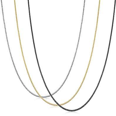 Amazon.com: ORAZIO - Juego de 3 cadenas de acero inoxidable ...