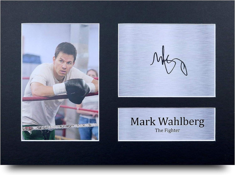 HWC Trading Mark Wahlberg A4 Sin Marco Regalo De Visualización De Fotos De Impresión De Imagen Impresa Autógrafo Firmado por The Fighter Los Aficionados Al Cine