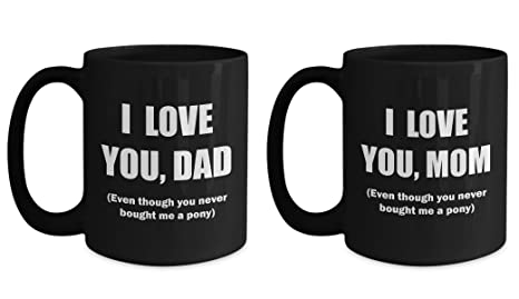 Amazon.com: Love You bought Me un pony regalo para Papá y ...