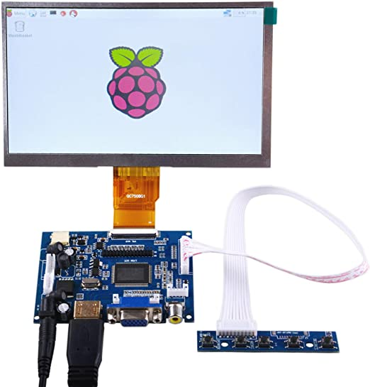 GeeekPi 7 Inch 1024 x 600 HDMI Screen LCD Display with Driver ...