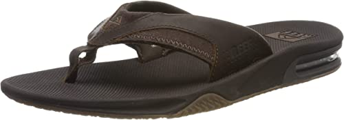 TALLA 40 EU. Reef Leather Fanning, Chanclas Hombre