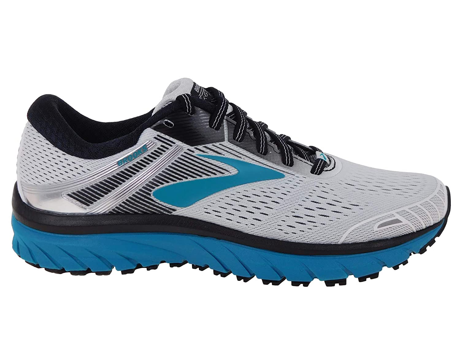 White Black Teal Brooks Womens Adrenaline GTS 18