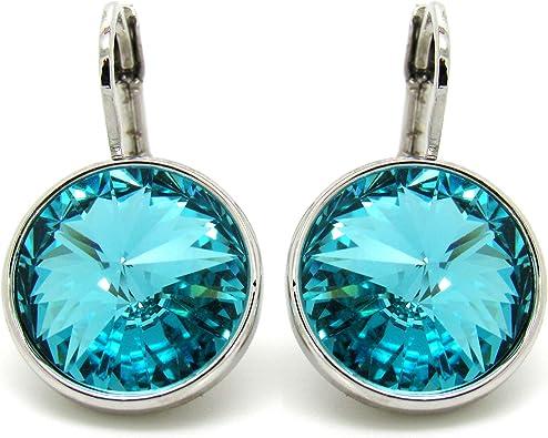 Crystal CP Bella Turquoise Rhodium