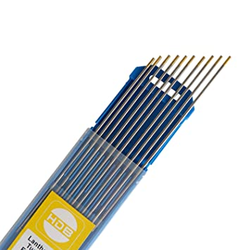 1 x Wolfram Elektrod WIG Nadeln WL15 Gold 2,4Ø x 175 mm