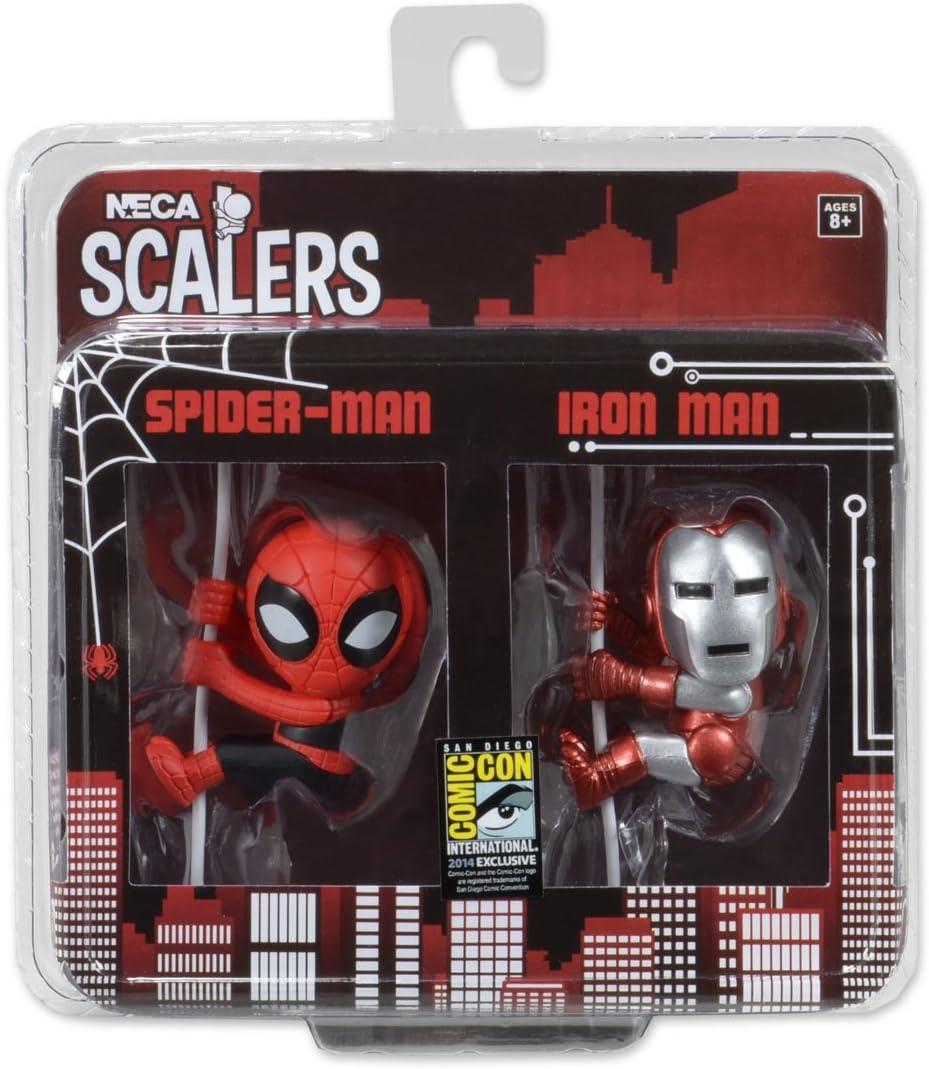 NECA San Diego Comic con Exclusiva Ironman y Spiderman Figura de ...