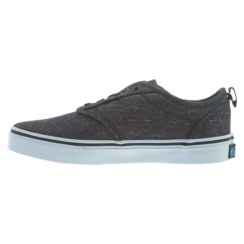 Vans Atwood Slip-On (Textile) Little Kids Style: VN0004LM-FN8 Size: 10.5 Black/Hawaiian Ocean