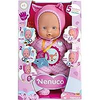 Nenuco de Famosa- 700014781 Muñeco Blandito 5 funciones, Color rosa , color/modelo surtido