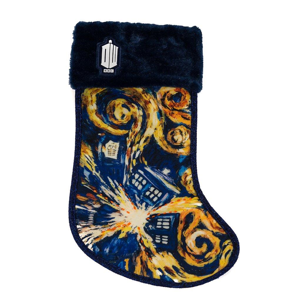 Kurt Adler Doctor Who Tardis Starry Night Stocking, 19-Inch