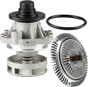 TOPAZ 11527505302 Engine Cooling Fan Clutch + 11517527799 Water Pump for BMW E46 E36 E39 E38 E34 Z3