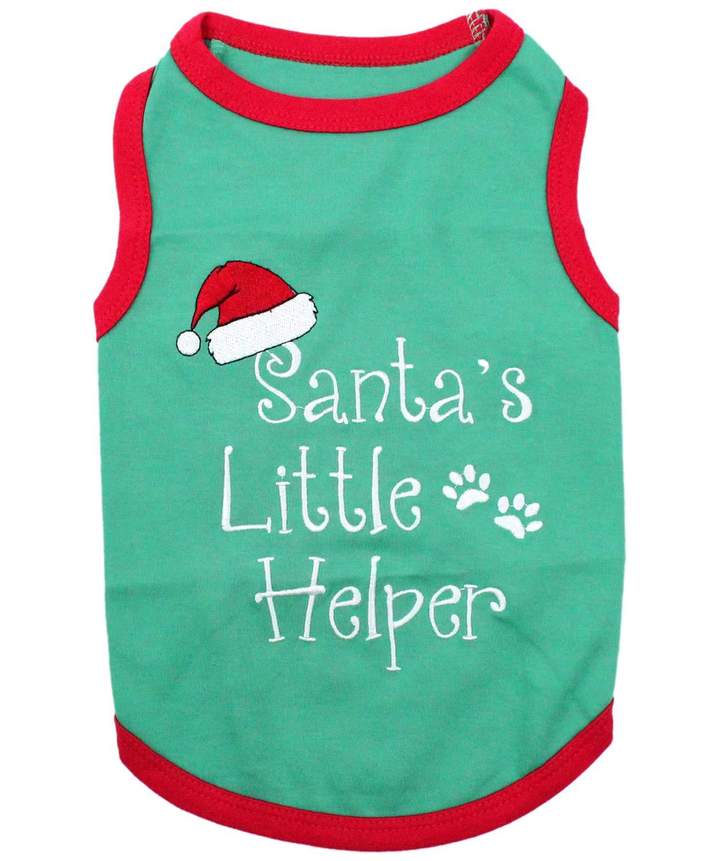 Parisian Pet Santa's Little Helper Dog T-Shirt, Small